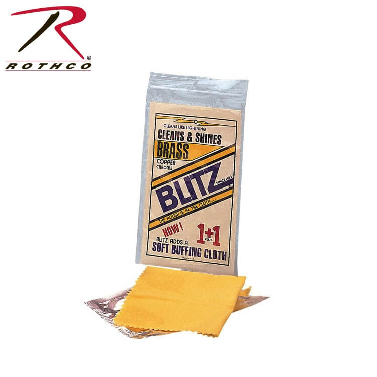 Rothco 10108 Gold/Brown Cleans & Shines Brass, Copper & Chrome. The Polish Is In The Cloth Inches Soft Buffing Cloth