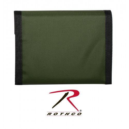 10629 Rothco Black Nylon Tri-Fold Commando Wallet