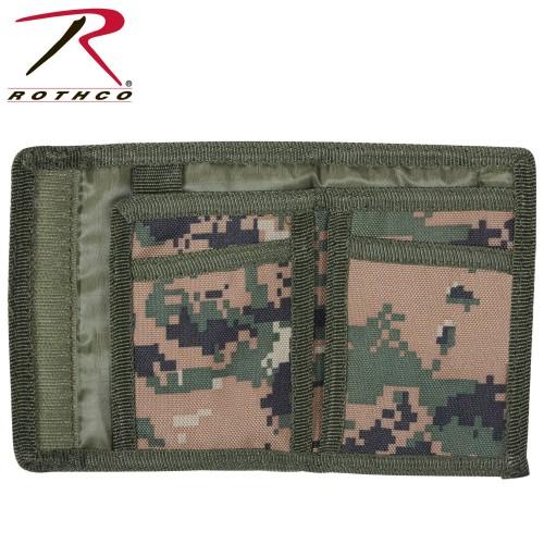 10635 Rothco Nylon Woodland Digital Camouflage Tri-Fold Commando Wallet
