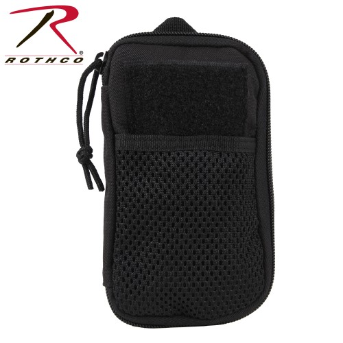 Rothco 11660 Black Military Tactical Zipper Wallet