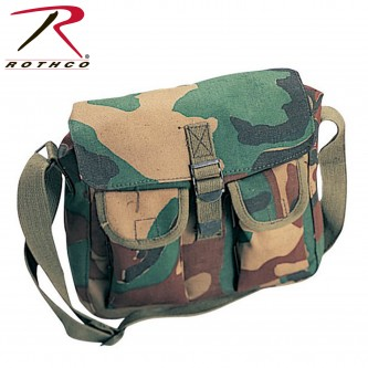 2276 Rothco Canvas Heavy Weight Military Ammo Shoulder Bag Tote[woodland]