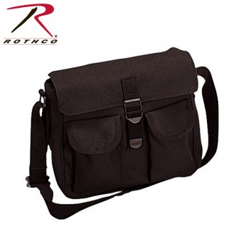 Rothco 2278 New Black Military Style Canvas Ammo Tactical Shoulder Bag
