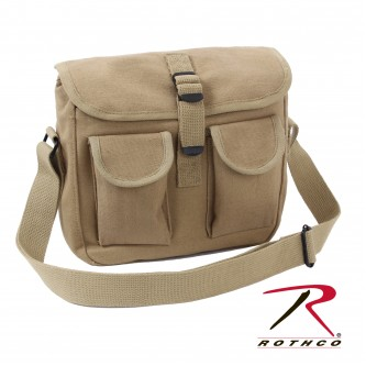 2279 Rothco Canvas Heavy Weight Military Ammo Shoulder Bag Tote[Khaki]