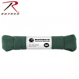 HUNTER 30807 - 550LB 7 Strand 100% Polyester Type III Import Paracord Rope 100'