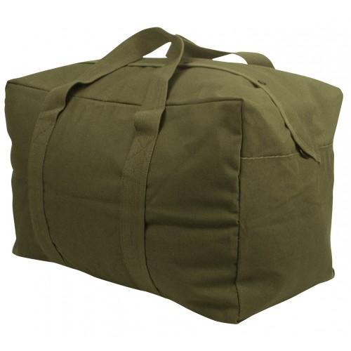 3123 Rothco Black Heavy Weight Canvas Parachute Cargo Bag