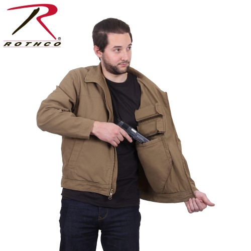 3801-L Lightweight Ambidextrous Tactical Concealed Carry Jacket Coyote Brown 3801[Large]
