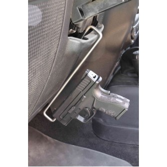 Jeep JK 2007-2018, Handgun or Pistol Holder.  Stainless Steel. Made in the USA