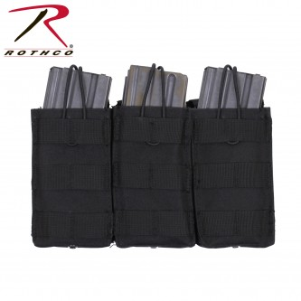41005 MOLLE Compatible Open Top Tactical Triple Mag Pouch Rothco 41004 41005[ACU Digital Camo]