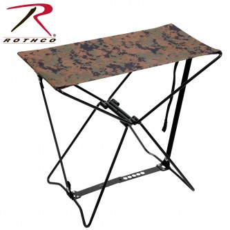Rothco Collapsible Stool with Carry Strap Woodland Camo 4554