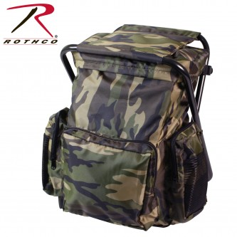 Rothco Backpack & Stool Combo Pack, Woodland