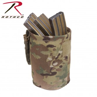 51009 MOLLE Compatible Roll Up Utility Tactical Dump Pouch Rothco. Good for clips, shells, etc