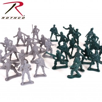 576 Rothco Military Toy WWII Army Men Play Set- 40 Pieces