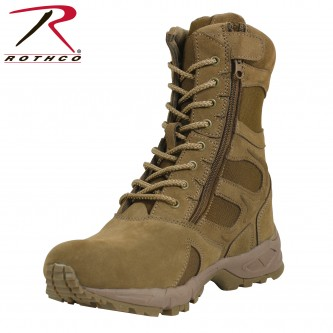 Rothco Forced Entry AR 670-1 Coyote Side Zip Boot