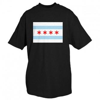 Chicago Flag T-Shirt Black - L