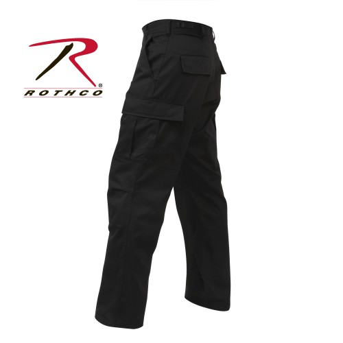 7971-l Rothco Military Fatigue Solid BDU Cargo Pants[Black,L]