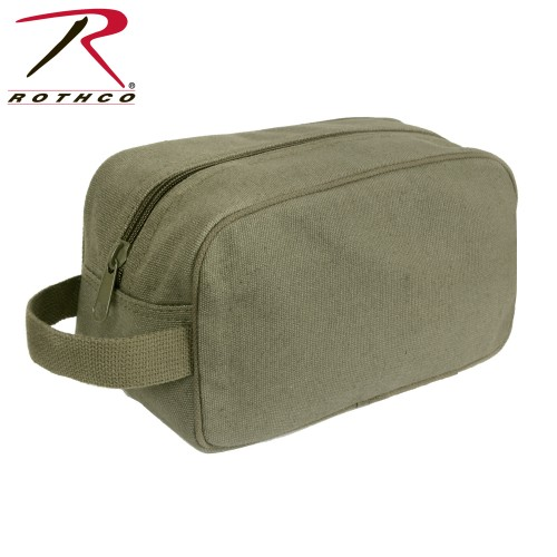 8126-blk Rothco Canvas Toiletry Travel Bag Olive Drab Or Black[Black]