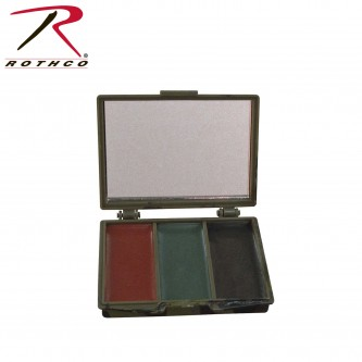 8200 Rothco Camouflage Face Paint - 3 Colors - Black Olive And Brown