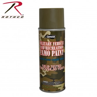 8223 Camouflage Digital Pattern Military Spray Paint Can 12 Oz. Rothco[Olive Drab]