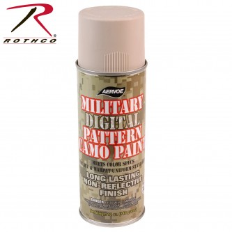 8323 Camouflage Digital Pattern Military Spray Paint Can 12 Oz. Rothco[Desert Sand]