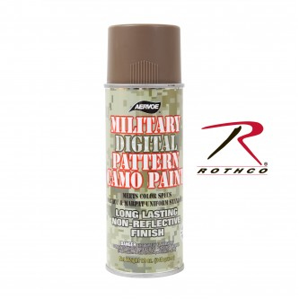 8343 Camouflage Digital Pattern Military Spray Paint Can 12 Oz. Rothco[Coyote Brown]