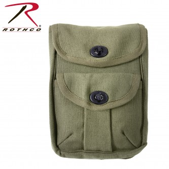 Rothco Canvas 2-Pocket Ammo Pouch - Olive Drab