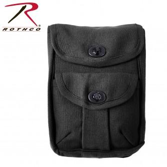 Rothco Canvas 2-Pocket Ammo Pouch - Black