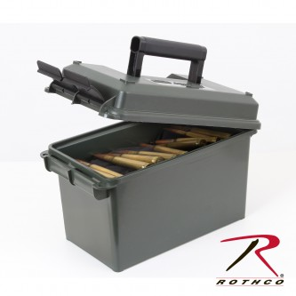 9098 Rothco MTM 50 Cal Olive Drab Plastic Water Resistant Ammo Can