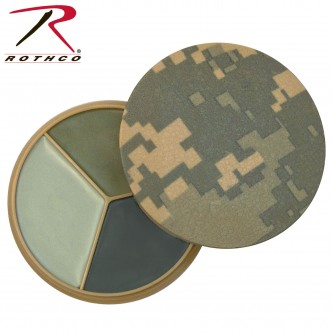 9107 Rothco Digital Camo 3 Color Face Paint Compact
