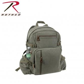9262-od Rothco Vintage Canvas Jumbo Military Backpack School Bag[Olive Drab]