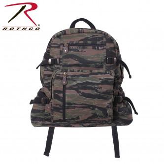 9712 Rothco Vintage Canvas Jumbo Military Backpack School Bag[Tiger Stripe Camo]
