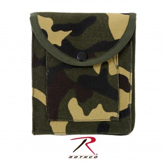 9801 Rothco Heavy Weight Cotton Canvas Tactical Utility Pouch[Woodland Camo]