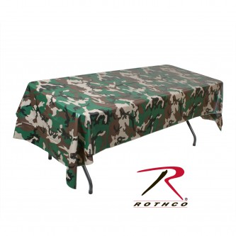 Rothco 9990 New Woodland Camouflage Plastic Multi Use Tablecloth